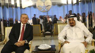 Cumhurbaşkanı Recep Tayyip Erdoğan ve Suudi Arabistan Kralı Selman