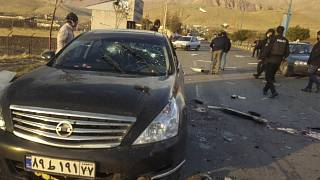 The scene where Mohsen Fakhrizadeh was killed in Absard, east of the capital Tehran, on Friday