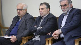 Moshen Fakhrizadeh è il terzo a destra