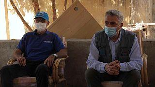 El Alto Comisionado, Filippo Grandi, visitando los campos de Sudán