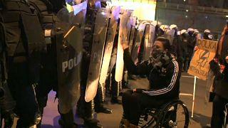 Demonstrantin