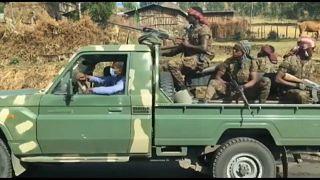 Äthiopisches Militär vor dem EInmarsch