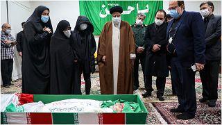 جثمان العالم الإيراني الذي أغتيل