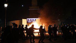 Εικόνες από τη χθεσινή διαδήλωση στο Παρίσι