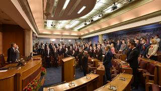 Formerly opposition groups are set to form a new government in Montenegro's parliament
