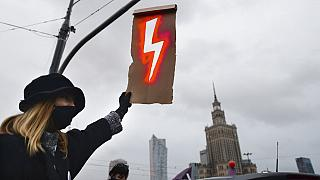 Protest in Warschau