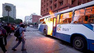 Disturbios en Guatemala contra los presupuestos del Gobierno