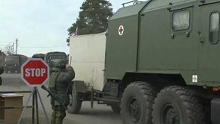 Российские военные медики прибыли в Нагорный Карабах.