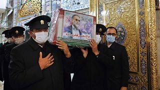 İranlı nükleer fizikçi Muhsin Fahrizade'nin cenazesi