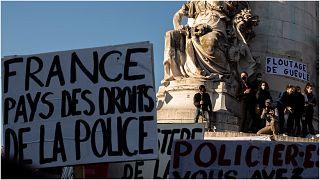 من مظاهرات عمت باريس ضد عنف رجال الأمن