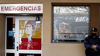 A kórház, ahol Maradonát megműtötték november elején, La Plata, Argentína