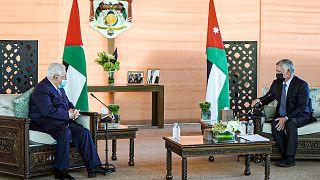 الرئيس محمود عباس يزور العاهل الأردني الملك عبد الله