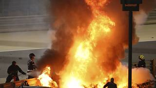 "Опасная авария на Гран-при ""Формулы-1"" в Бахрейне"