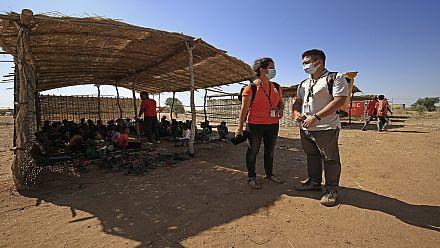 Tigray children resume learning in makeshift classes in Sudan refugee camp