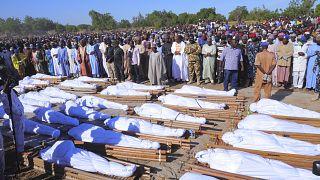 Похороны убитых крестьян
