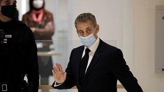 Nicolas Sarkozy arrivant à la 32e chambre correctionnelle de Paris, 26 novembre 2020
