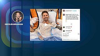 Romain Grosjean sur les réseaux sociaux depuis son lit d'hôpital, 29 novembre 2020