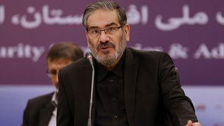 أمين المجلس الأعلى للأمن القومي الإيراني علي شمخاني خلال اجتماع في طهران. 2018/09/26