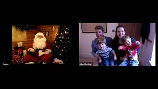 Santa speaking with children and their parents via video call