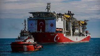 کشتی حفّاری ترکیه در آبهای این کشور