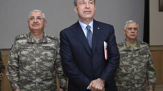 Turkey's Defense Minister Hulusi Akar