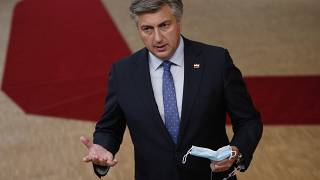 Andrej Plenkovic had been self-isolating for two days after his wife had tested positive for the coronavirus.