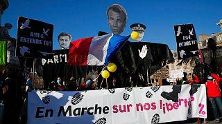 تظاهرات شنبه گذشته مخالفان طرح «امنیت جامع» در فرانسه