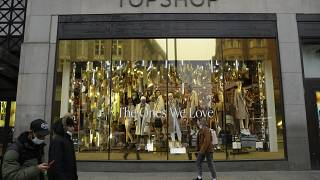 The Topshop flagship store on Oxford Street, during England's second coronavirus lockdown, in London, Monday, Nov. 30, 2020.
