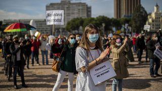 Manifestación en Madrid para pedir más medios para la sanidad pública