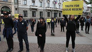 مظاهرات سابقة طالبت بكشف الحقيقة في قضية ريجيني