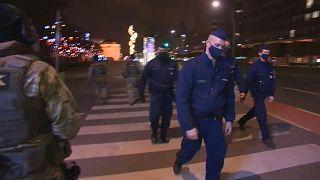 Patrullas de policía en Budapest