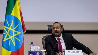 رئيس الوزراء الأثيوبي أبيي أحمد يجيب عن أسئلة البرلمان في أديس أبابا. 2020/11/30