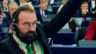 Szájer József az Európai Parlament ülésén 2016-ban