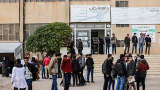 """طلاب سوريون في """"جامعة حلب"""