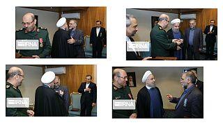اهدای نشان خدمت دولت ایران به محسن فخریزاده در سال ۱۳۹۴