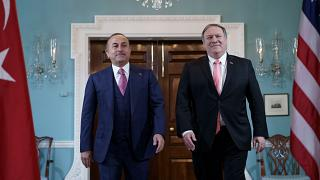 US Secretary of State Mike Pompeo and Turkish Foreign Minister Mevlut Cavusoglu