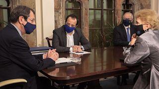 UN envoy Jane Holl Lute meets Cyprus Republic President Nicos Anastasiades