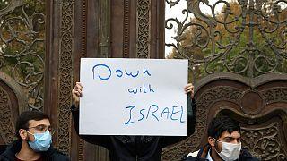 Muhsin Fahrizade'nin cenaze töreninde İsrail protesto edildi