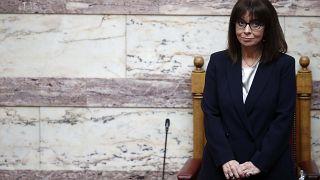 Η Πρόεδρος της Ελληνικής Δημοκρατίας Κατερίνα Σακελλαροπούλου