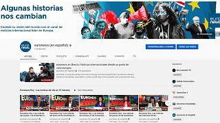 Portada del canal de Euronews en español en Youtube