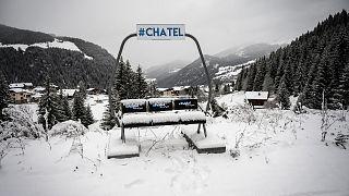 La station de ski de Chatel, dans les Alpes françaises, le 1er décembre 2020