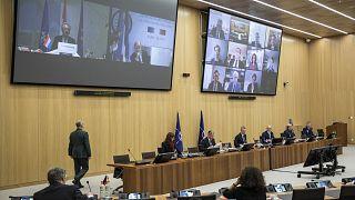 Belçika'nın başkenti Brüksel'de düzenlenen NATO Dışişleri Bakanları Toplantısı