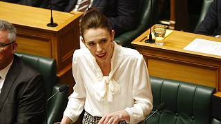New Zealand Prime Minister Jacinda Ardern speaks at the parliament on Wednesday, Dec. 2, 2020, in Wellington.