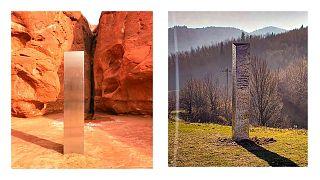 کشف یک شیٔ اسرارآمیز در صحرای سرخ ایالت یوتای آمریکا و رومانی