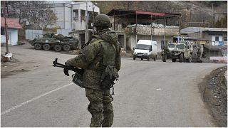 جنود من قوات حفظ السلام الروسية