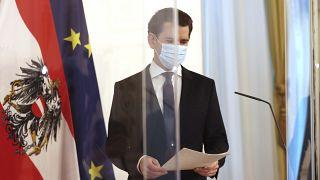 Österreichs Kanzler Sebastian Kurz auf einer Pressekonferenz in Wien, 02.12.2020