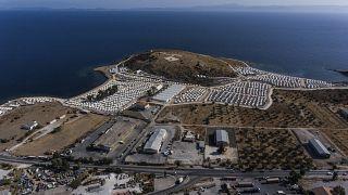 Lager für Migranten und Flüchtlinge auf Lesbos.