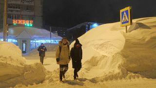 Szene aus Norilsk.