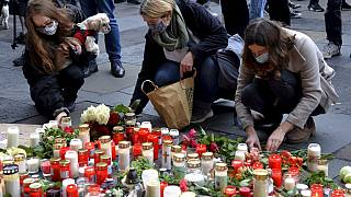 Candles and flowers are put in the pedestrian zone in memory of the victims in Trier