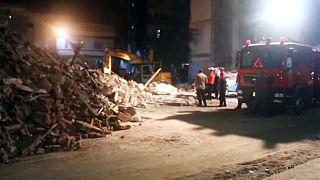 Csak törmelék maradt az összeomlott ház helyén Alexandriában